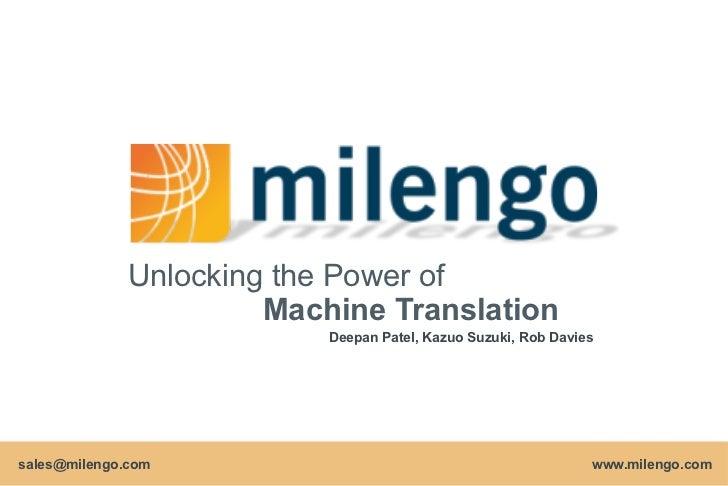 Unlock the Power of Machine Translation