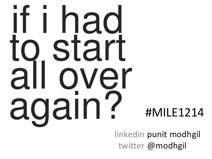 """""""If I had to start all over again?"""" Shared with MBA Students"""