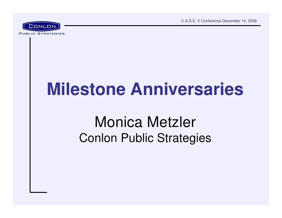 Milestone Anniversary Strategic Planning   Case Conference 12 14 09