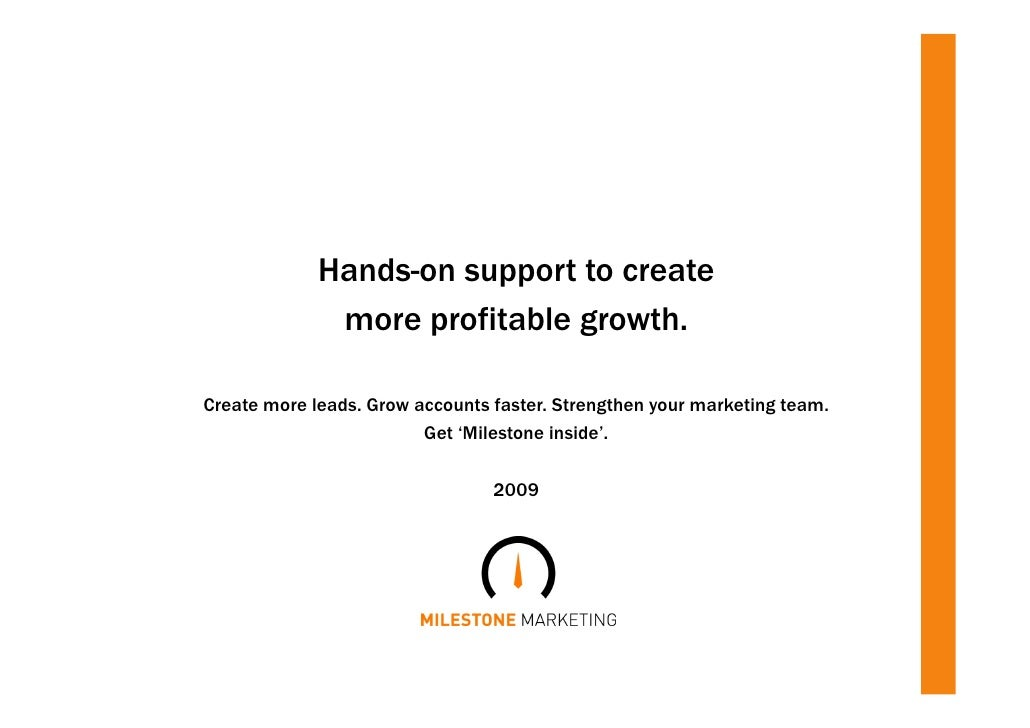Hands-on support to create               more profitable growth.  Create more leads. Grow accounts faster. Strengthen your...