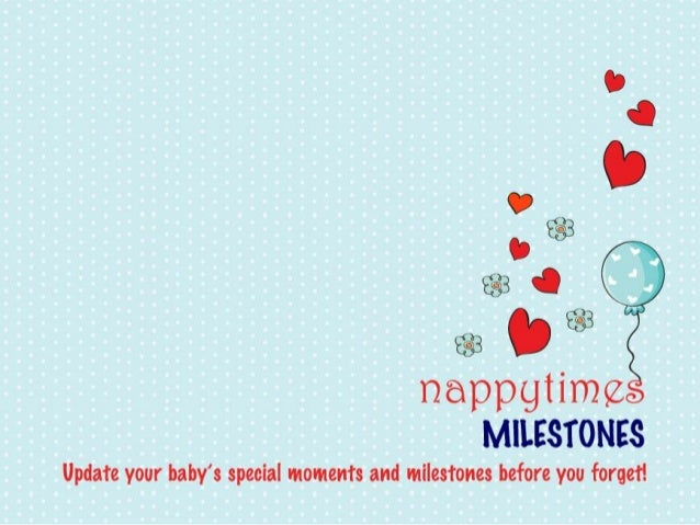 Nappytimes Baby Book: Milestones