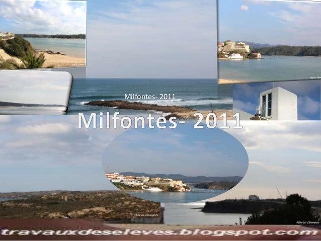 Milfontes 2011 par mes élèves