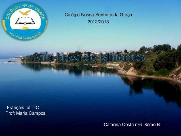 Colégio Nossa Senhora da Graça2012/2013Français et TICProf: Maria CamposCatarina Costa nº6 8ème B