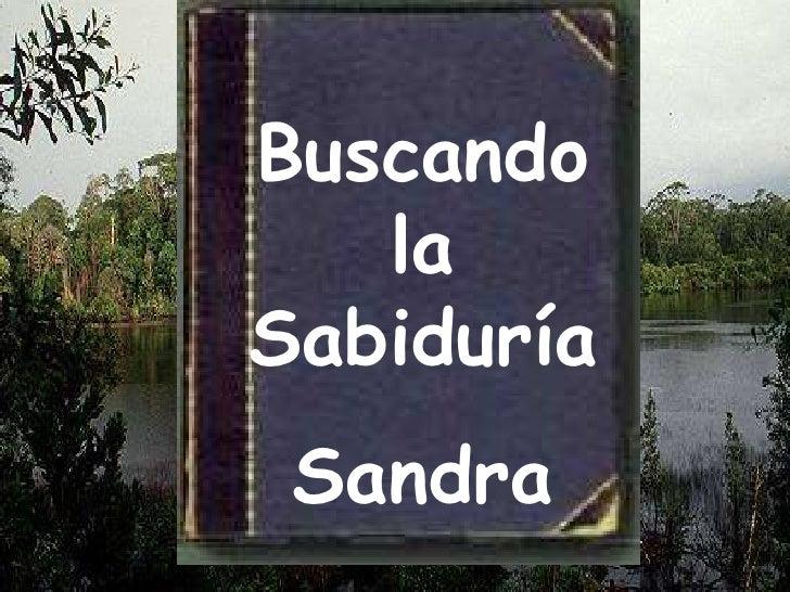 Buscando la  Sabiduría <br />Sandra<br />