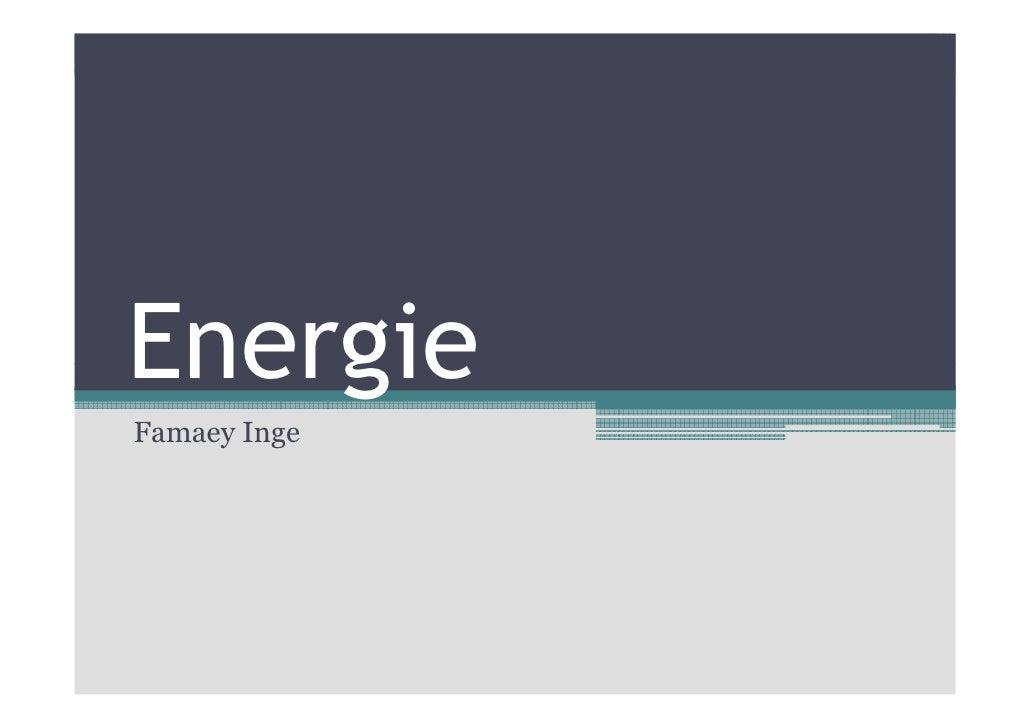 Energie Famaey Inge