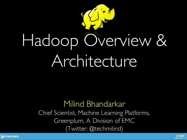 Hadoop Overview & Architecture