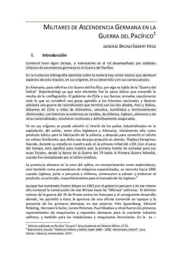 MILITARES DE ASCENDENCIA GERMANA EN LA                                GUERRA DEL PACÍFICO1                                ...