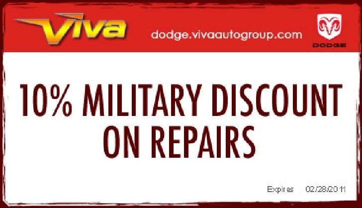 Military Discount – Viva Dodge Chrysler Jeep El Paso TX