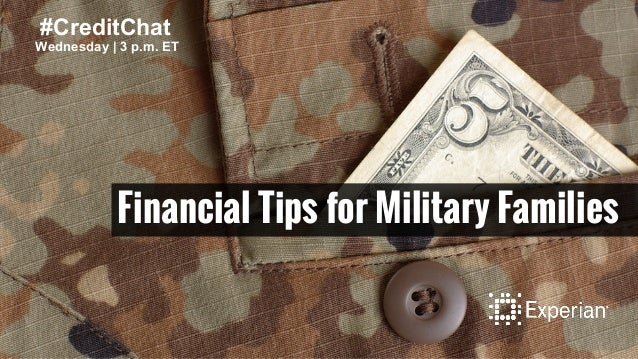 Financial Tips for Military Families Wednesday | 3 p.m. ET #CreditChat