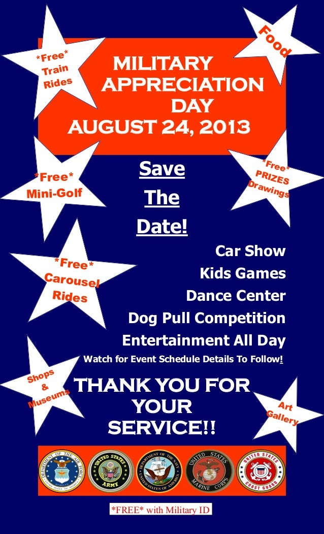 Military appreciation flyer save the date