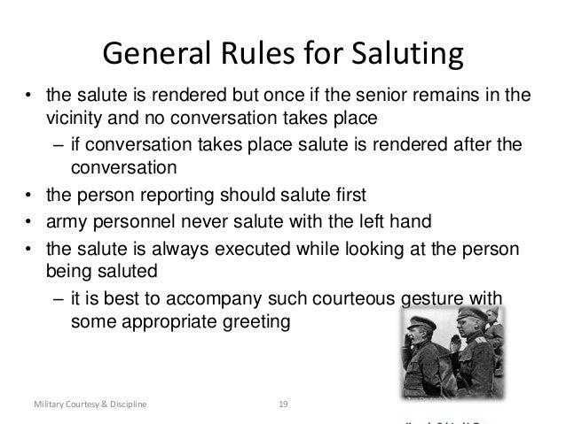 Military courtesy
