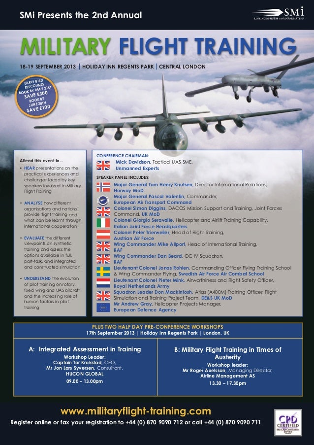 www.militaryflight-training.comRegister online or fax your registration to +44 (0) 870 9090 712 or call +44 (0) 870 9090 7...
