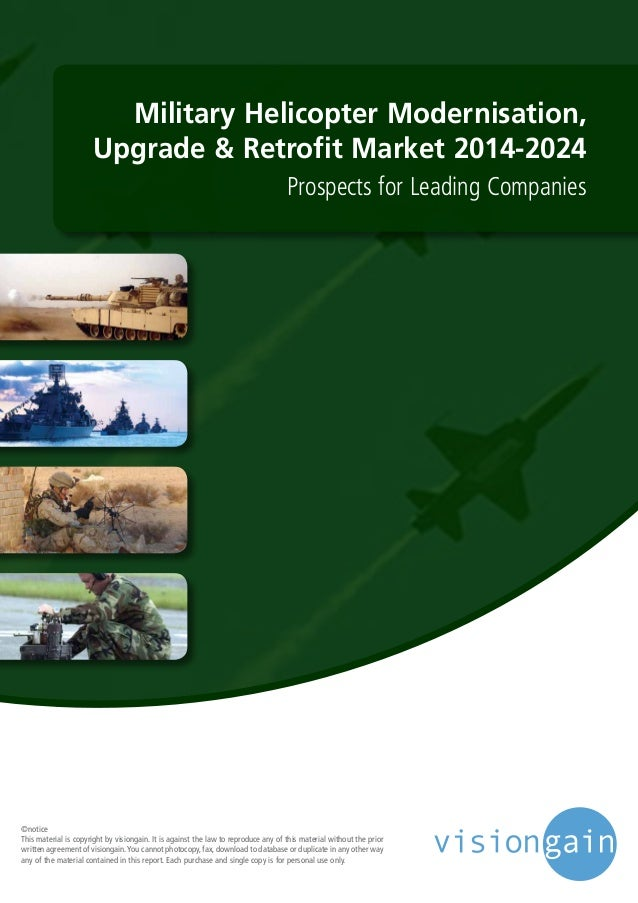 Military Helicopter Modernisation, Upgrade & Retrofit Market 2014-2024 Prospects for Leading Companies ©notice This materi...