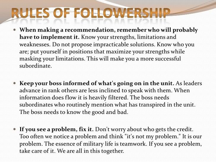 Essay On Military Leadership