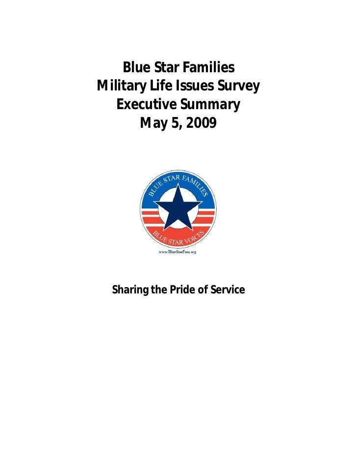 2009 Military Family Lifestyle Survey Executive Summary
