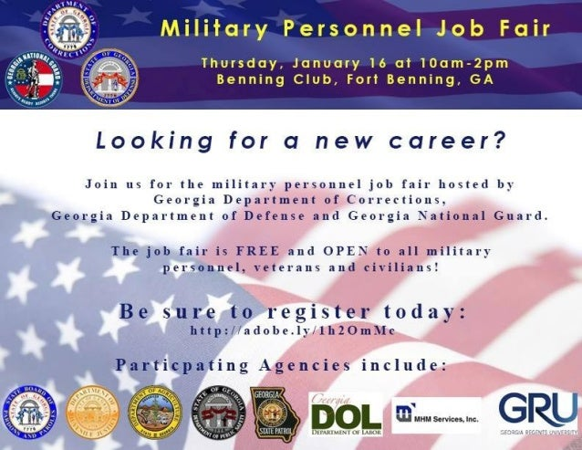 Military Personell Job Fair, January 16th @ Ft Benning!