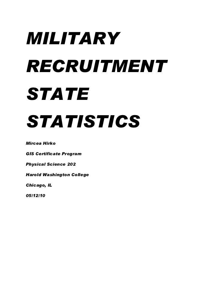 Military Recruitment Statistics United States