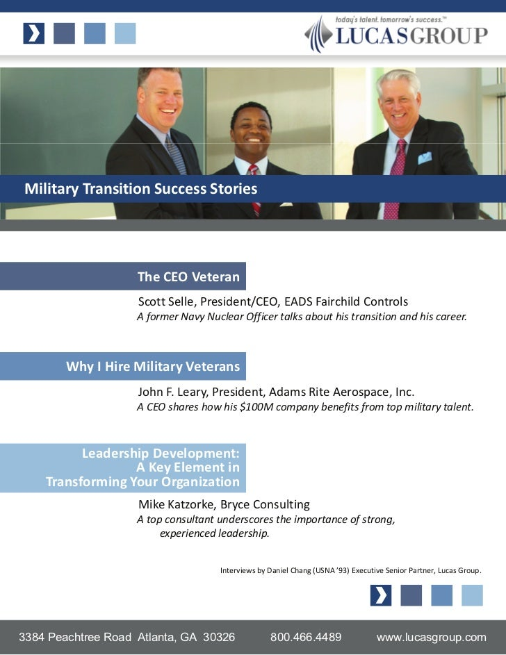 Military Transition Success Stories