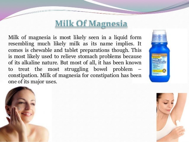 Purpose of milk of magnesia