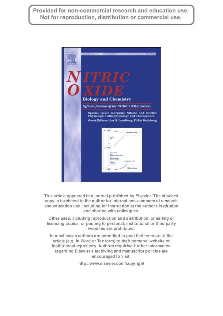 Milkowski_Coughlin_2010_Nitrite Nitrate Nitric Oxide_Risk-Benefit Evaluation