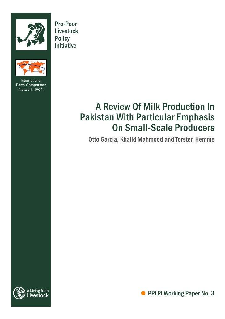 Milk Production In Pakistan