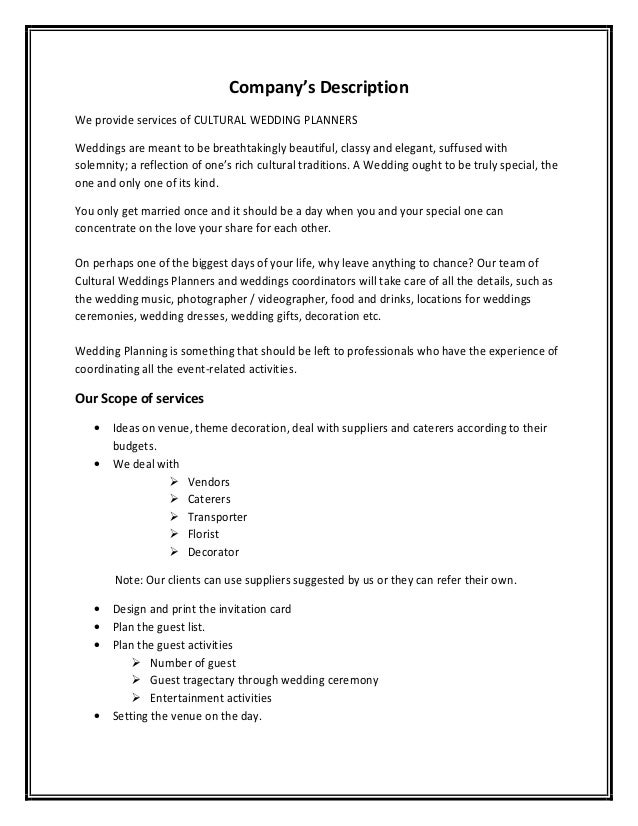 monthly sales target photography contract template cover letter – Event Planner Contract Example