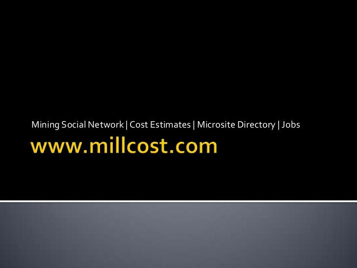 Mining Social Network | Cost Estimates | Microsite Directory | Jobs