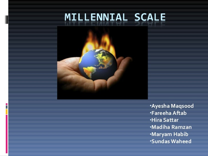 Millenial Scale For Climate Change