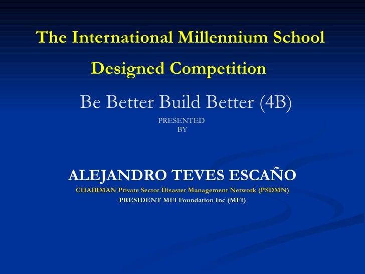 Millenium  School  Bldg 04 20 09