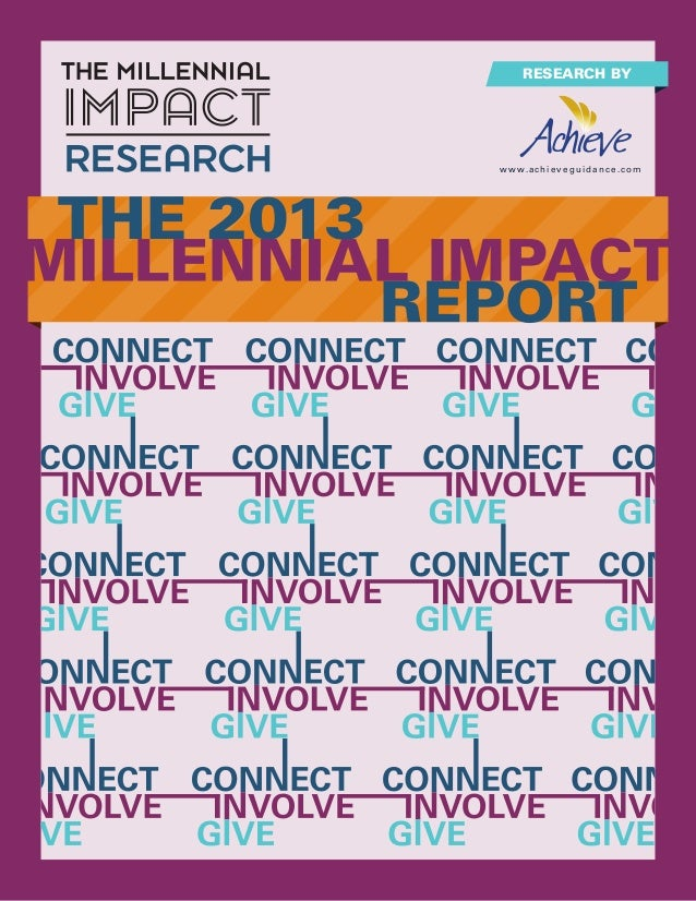 2013 Millennial Impact Report For Non-Profits