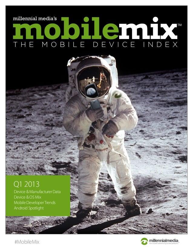 #MobileMixQ1 2013Device & Manufacturer DataDevice & OS MixMobile DeveloperTrendsAndroid Spotlight