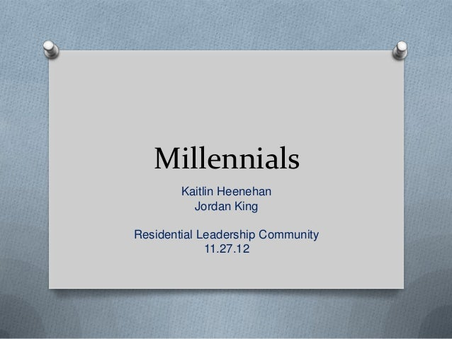 Millennials Presentation for Residential Leadership Community