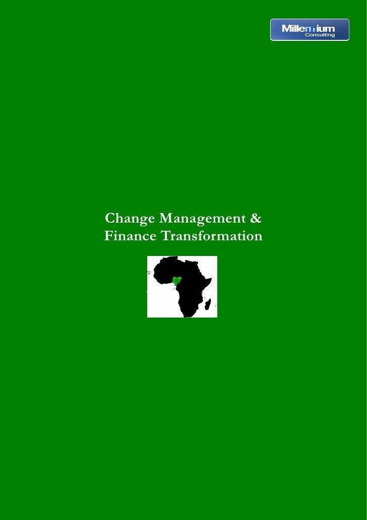 Change Management &Finance Transformation