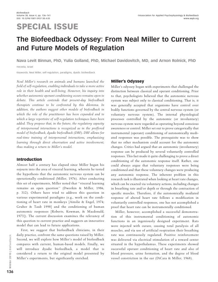 Biofeedback                             Volume 38, Issue 4, pp. 136–141                                                   ...