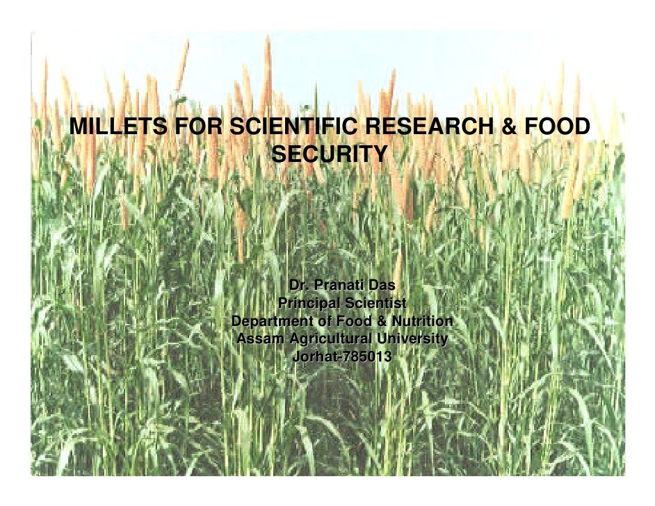 Millets For Scientific Research & Food Security