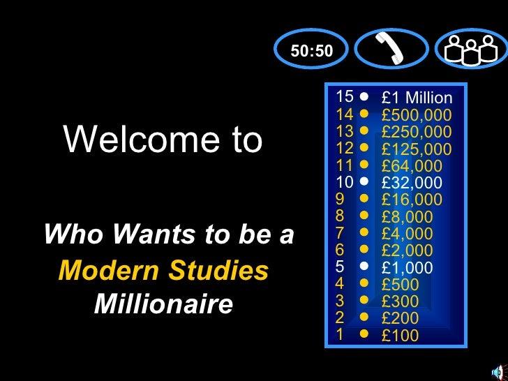 15 14 13 12 11 10 9 8 7 6 5 4 3 2 1 £1 Million £500,000 £250,000 £125,000 £64,000 £32,000 £16,000 £8,000 £4,000 £2,000 £1,...