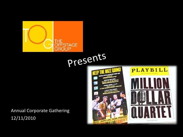Million dollar quartet event