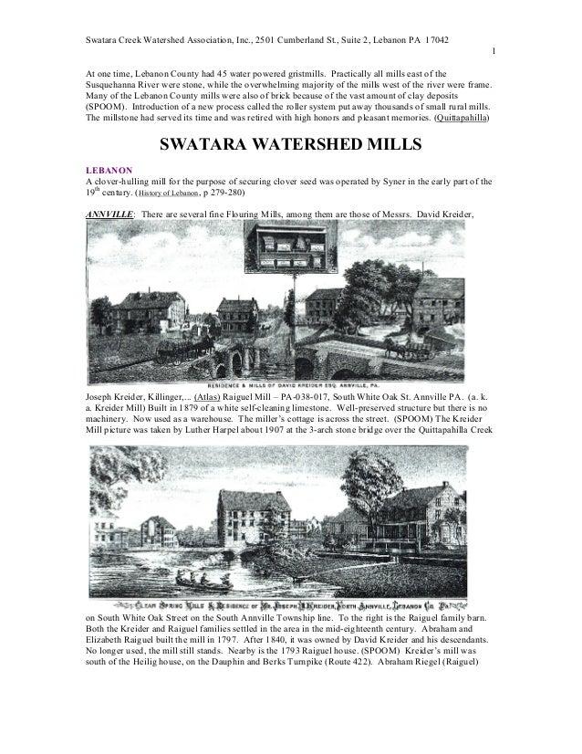 Mills & bank barns