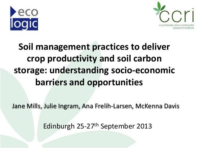 Jane Mills - Soil Management Practices