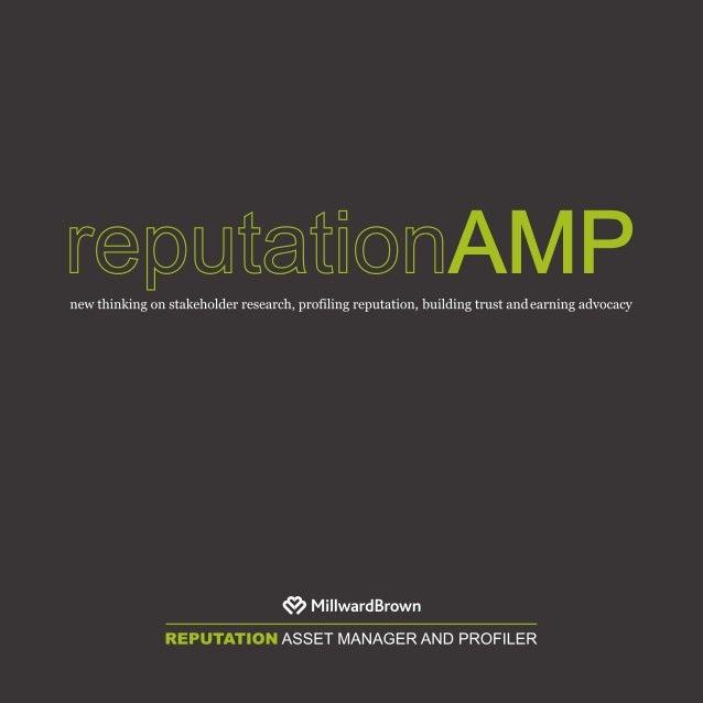 Millward Brown: Reputation AMP