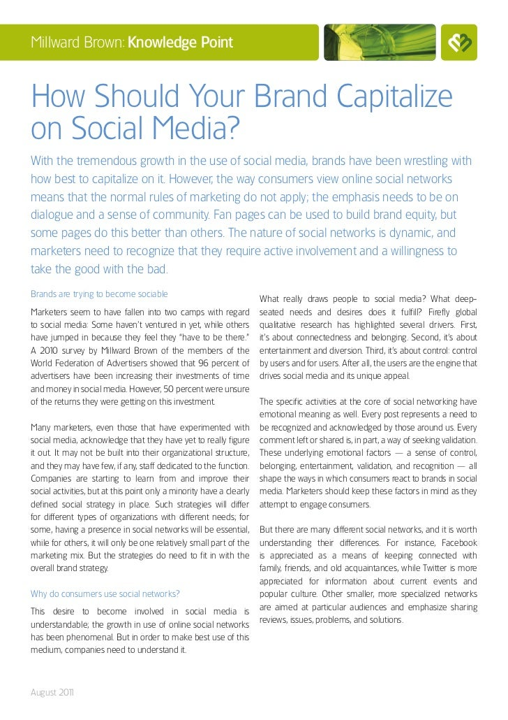 How Should Your Brand Capitalize on Social Media?
