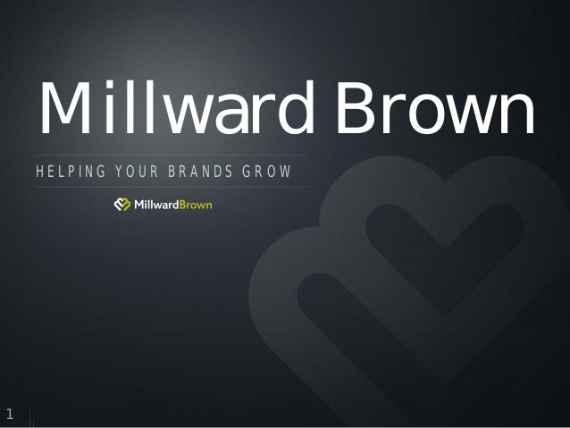 Millward Brown HELPING YOUR BRANDS GROW  1