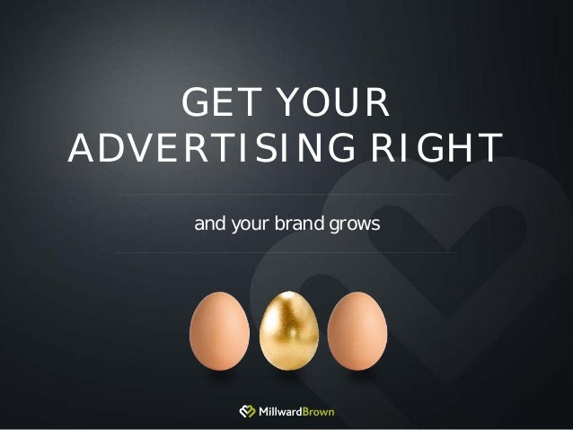 GET YOUR ADVERTISING RIGHT and your brand grows