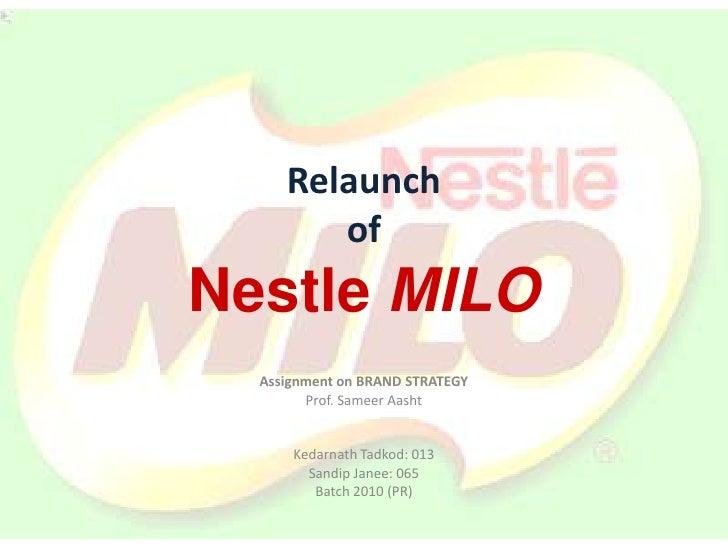 Milo Relaunch