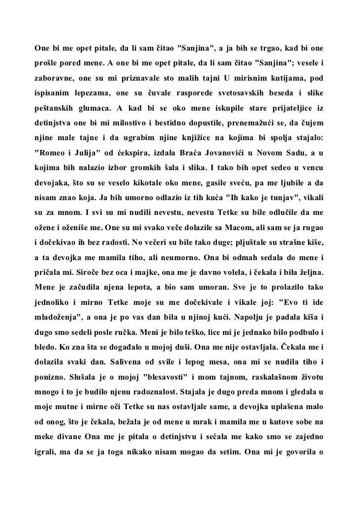 Milos Crnjanski dnevnik o carnojevicu citati