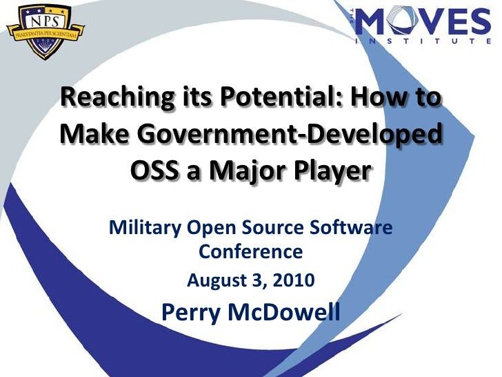 Reaching its Potential: Making Government Developed OSS a Major Player