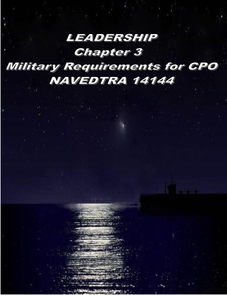 Leadership (Military Requirements for Chiefs) NAVEDTRA 12144 chapter 3
