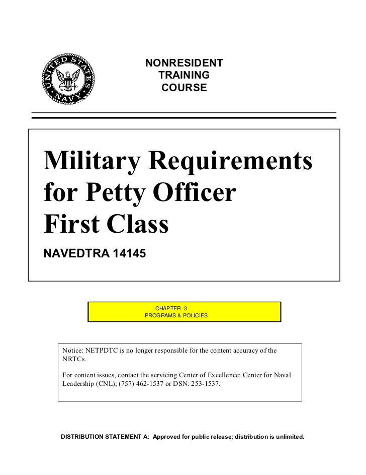 NONRESIDENT                                TRAINING                                COURSEMilitary Requirementsfor Petty Of...