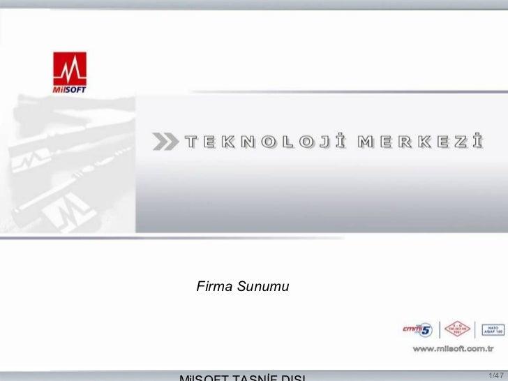 Firma Sunumu               1/47