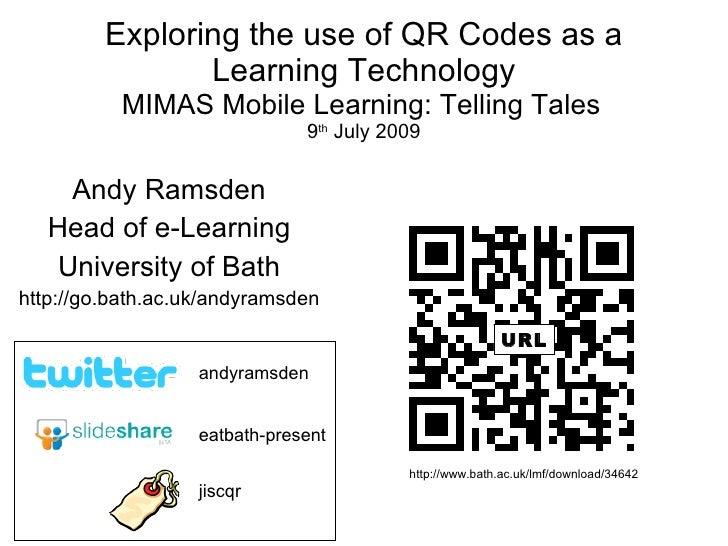 Telling Tales: QR Codes in UK Education